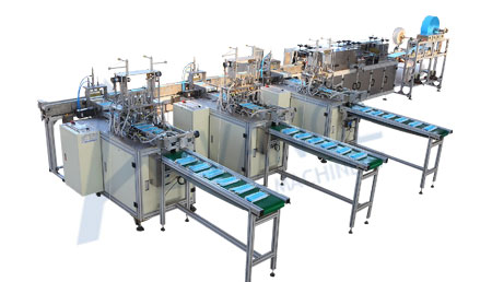 Full automatic nonwoven face mask production line